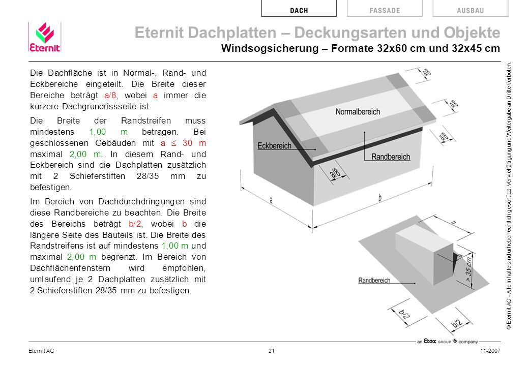 Windsogsicherung – Formate 32x60 cm und 32x45 cm