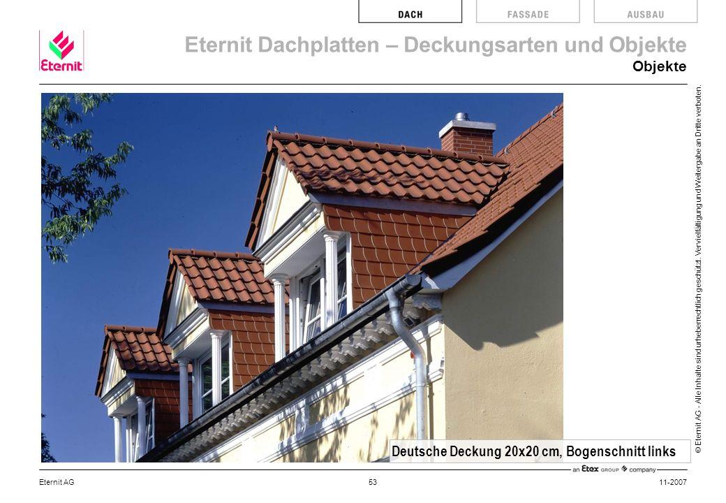 Deutsche Deckung 20x20 cm, Bogenschnitt links