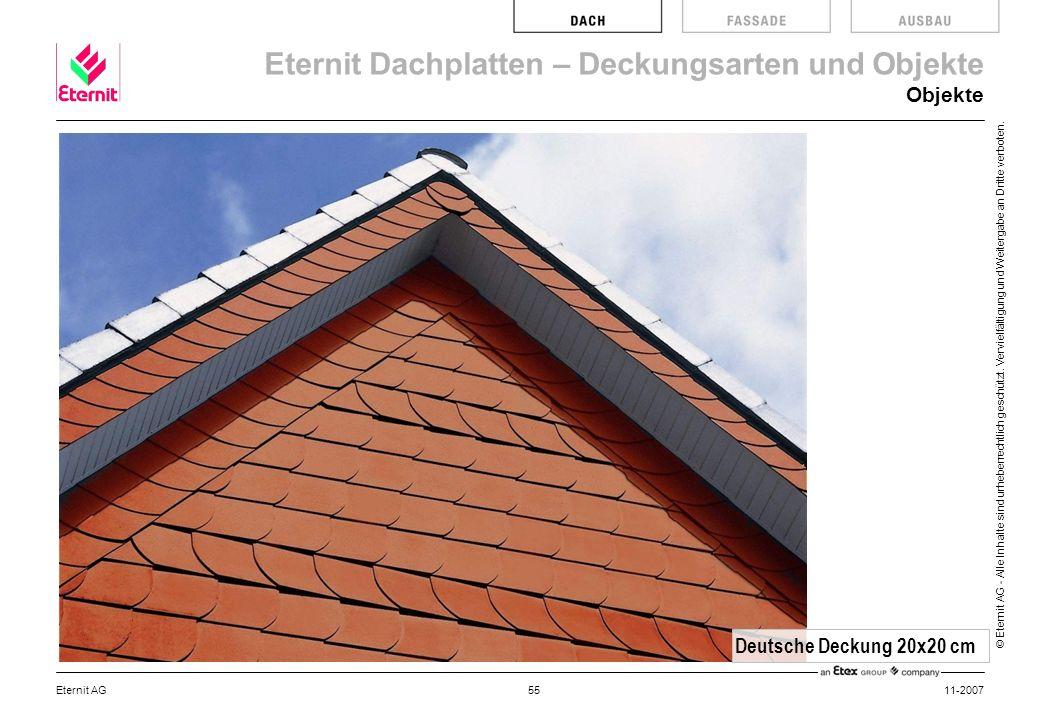 Objekte Deutsche Deckung 20x20 cm Eternit AG 11-2007