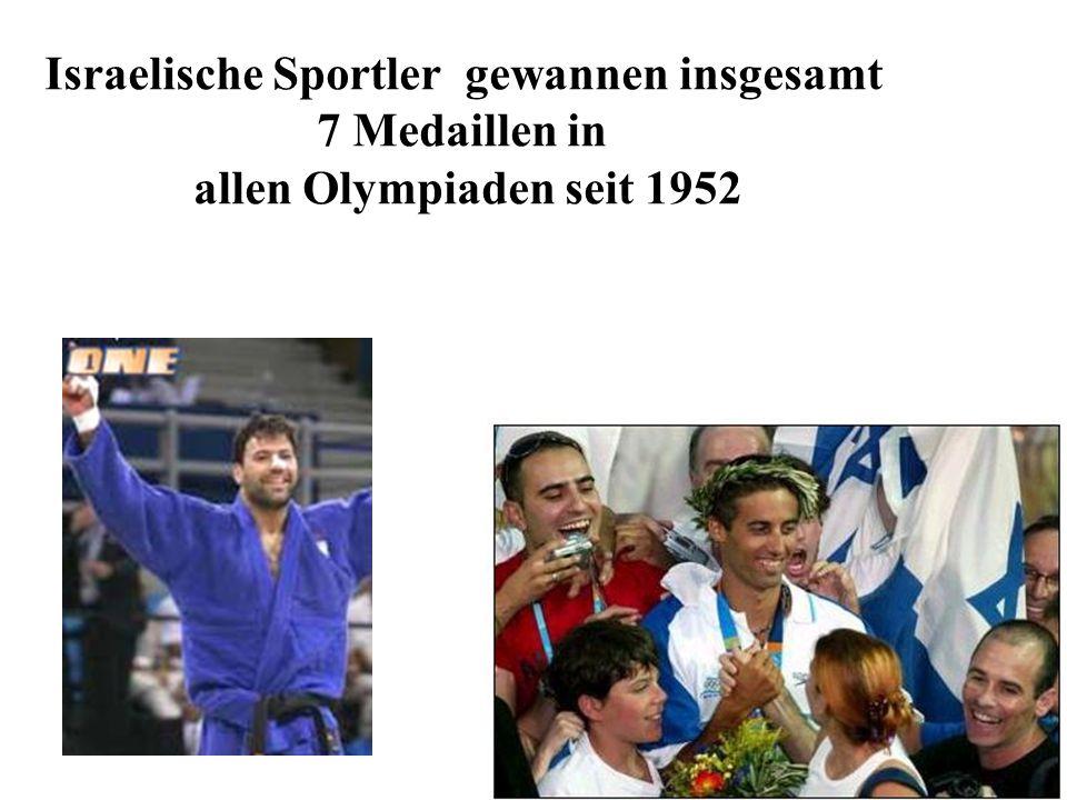 Israelische Sportler gewannen insgesamt