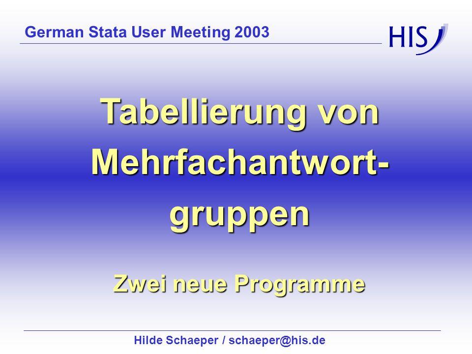 Hilde Schaeper / schaeper@his.de