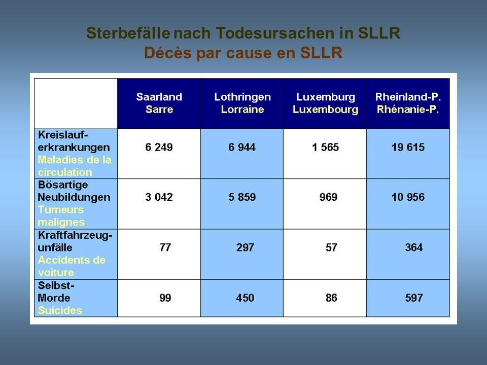 Sterbefälle nach Todesursachen in SLLR
