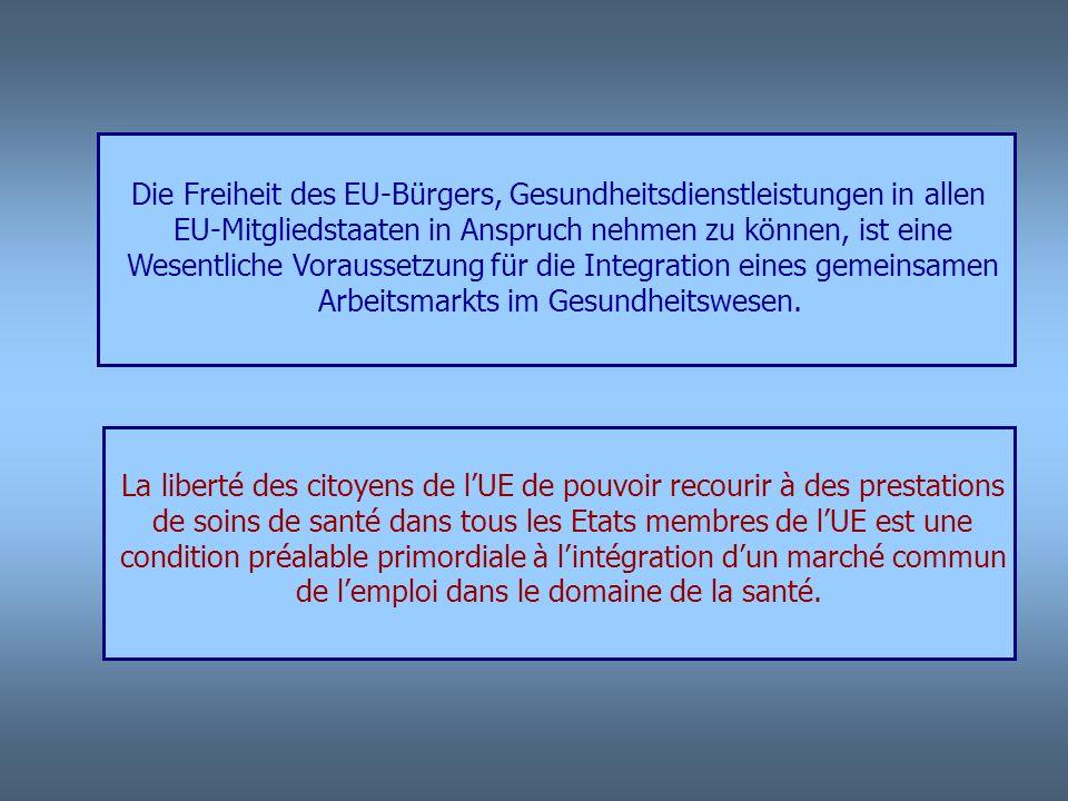 Die Freiheit des EU-Bürgers, Gesundheitsdienstleistungen in allen