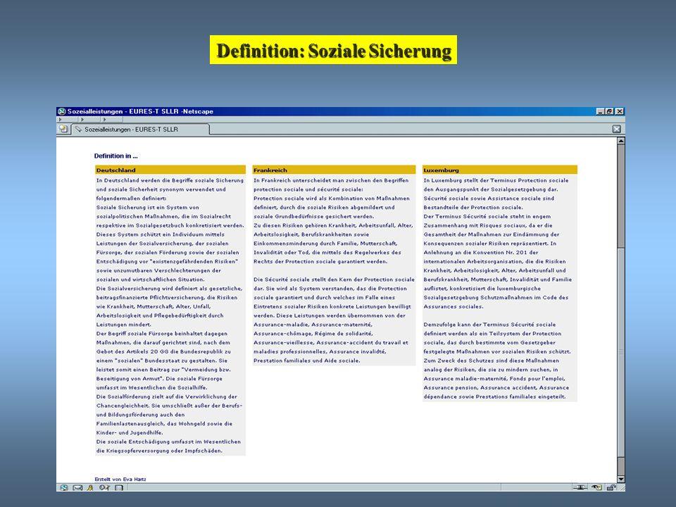 Definition: Soziale Sicherung
