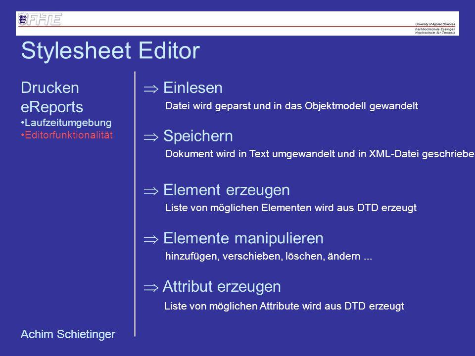 Stylesheet Editor Drucken