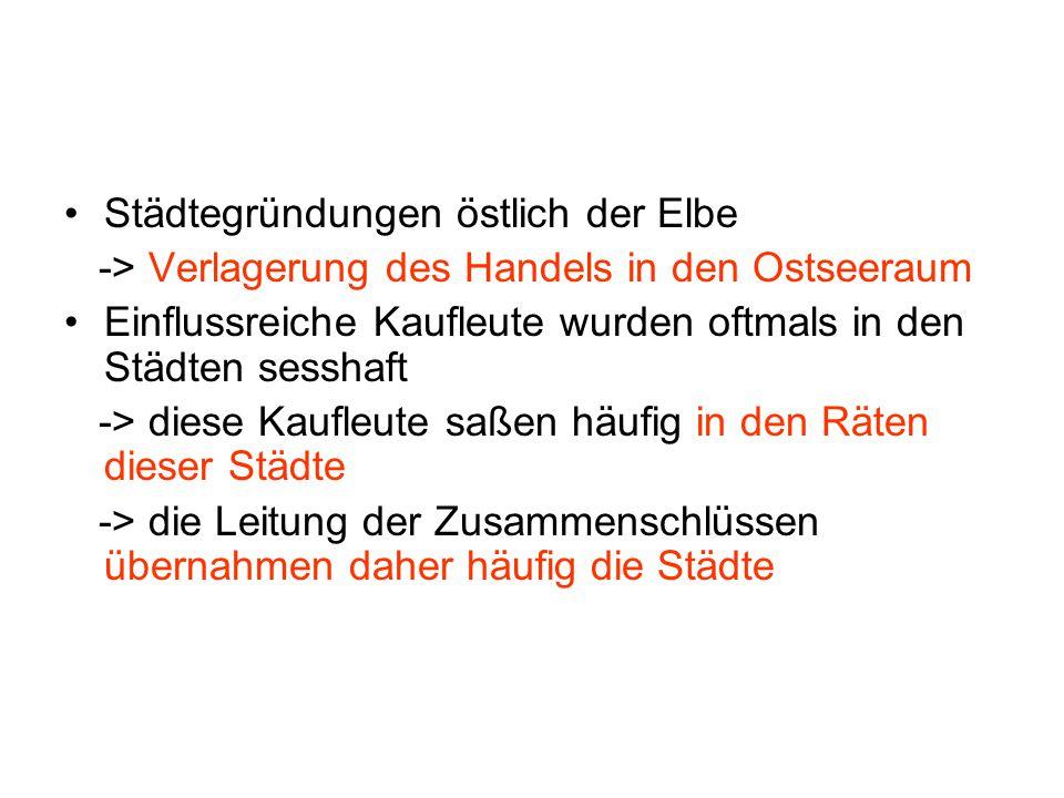 Städtegründungen östlich der Elbe