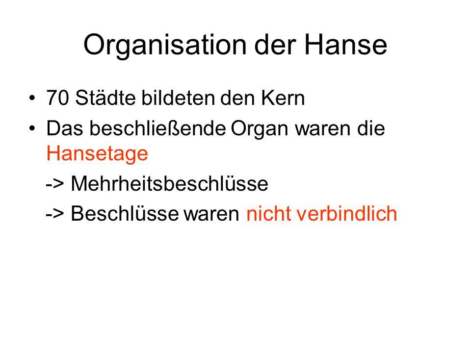 Organisation der Hanse