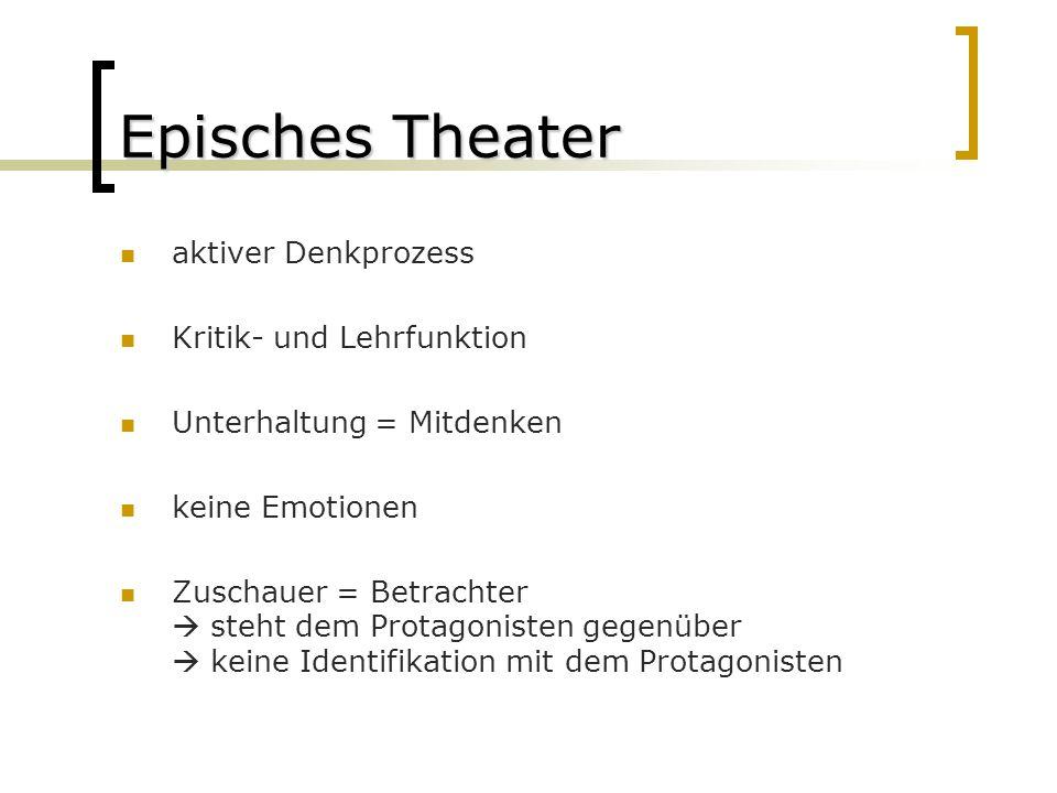 Episches Theater aktiver Denkprozess Kritik- und Lehrfunktion
