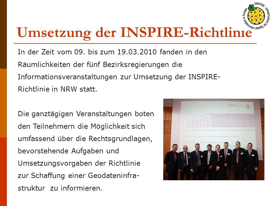 Umsetzung der INSPIRE-Richtlinie