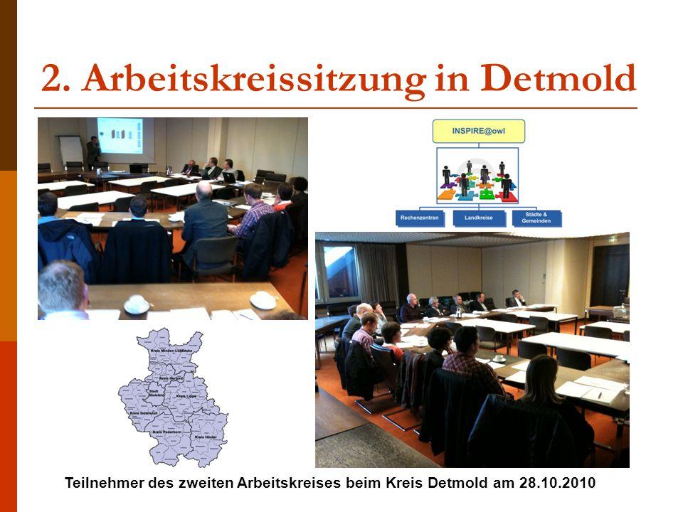 2. Arbeitskreissitzung in Detmold