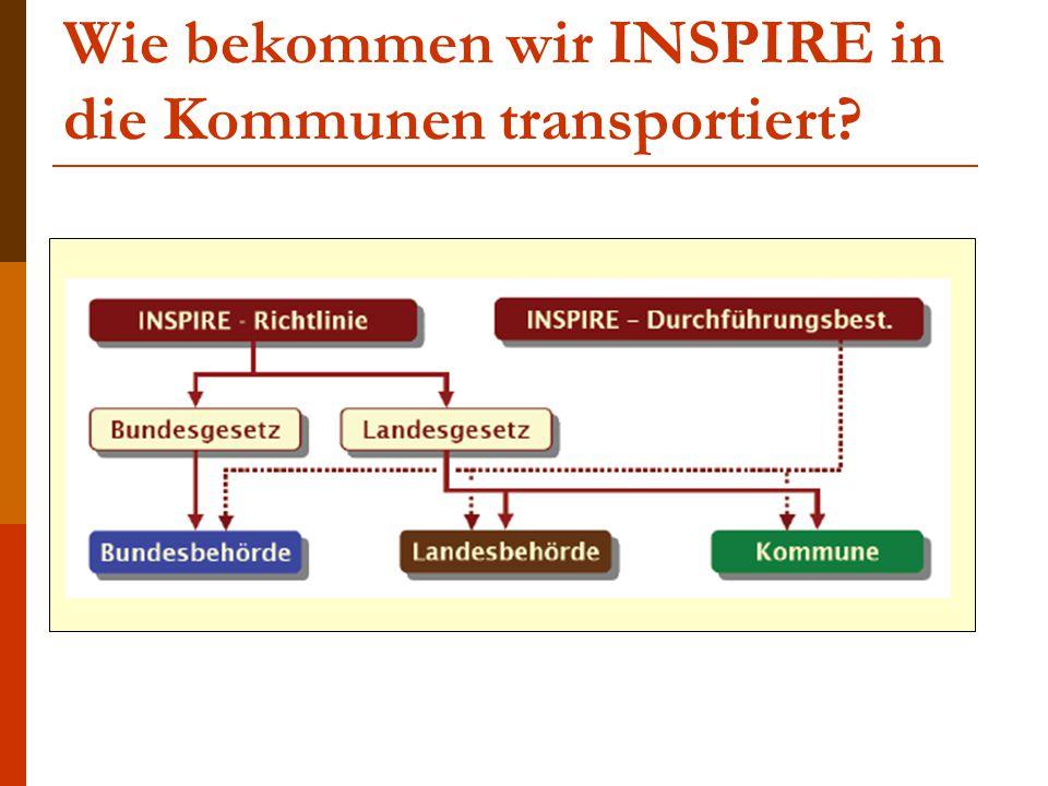 Wie bekommen wir INSPIRE in die Kommunen transportiert