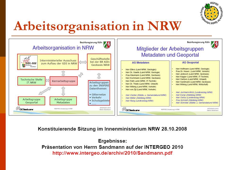 Arbeitsorganisation in NRW