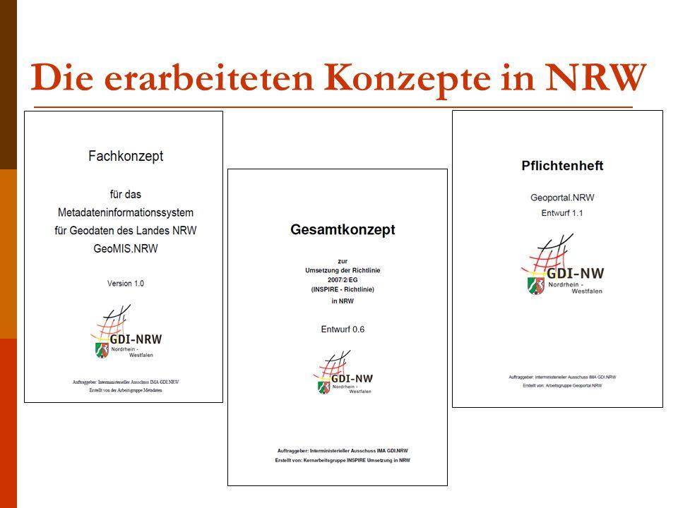 Die erarbeiteten Konzepte in NRW