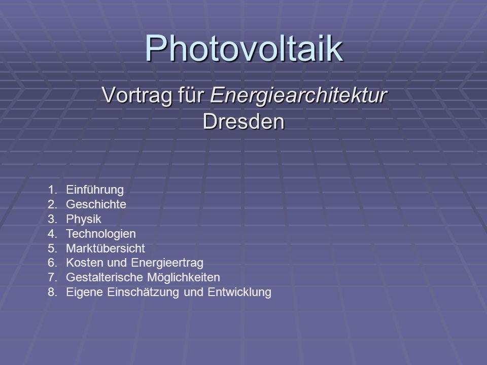 Vortrag für Energiearchitektur Dresden