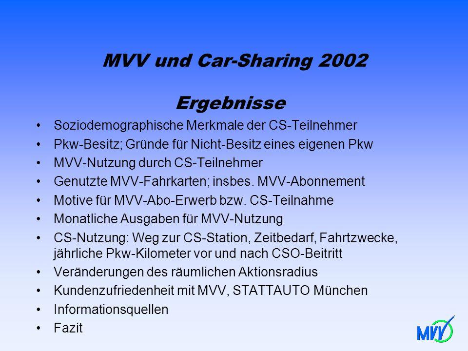 MVV und Car-Sharing 2002 Ergebnisse