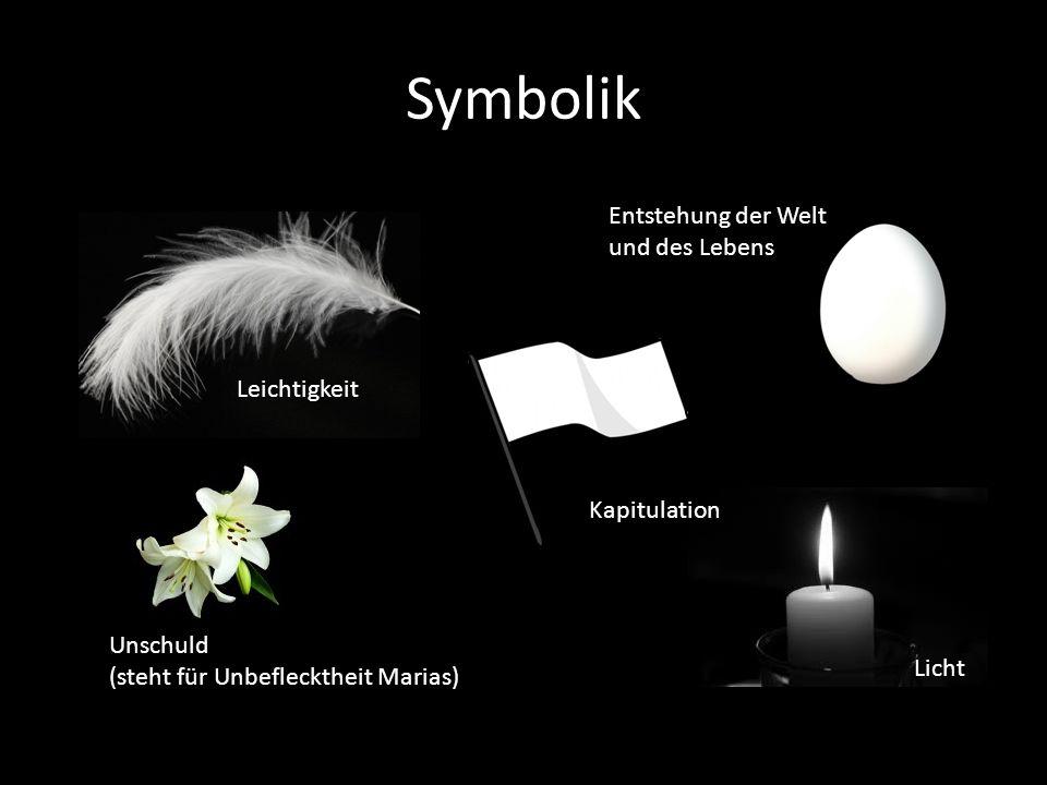 Symbolik Entstehung der Welt und des Lebens Leichtigkeit Kapitulation
