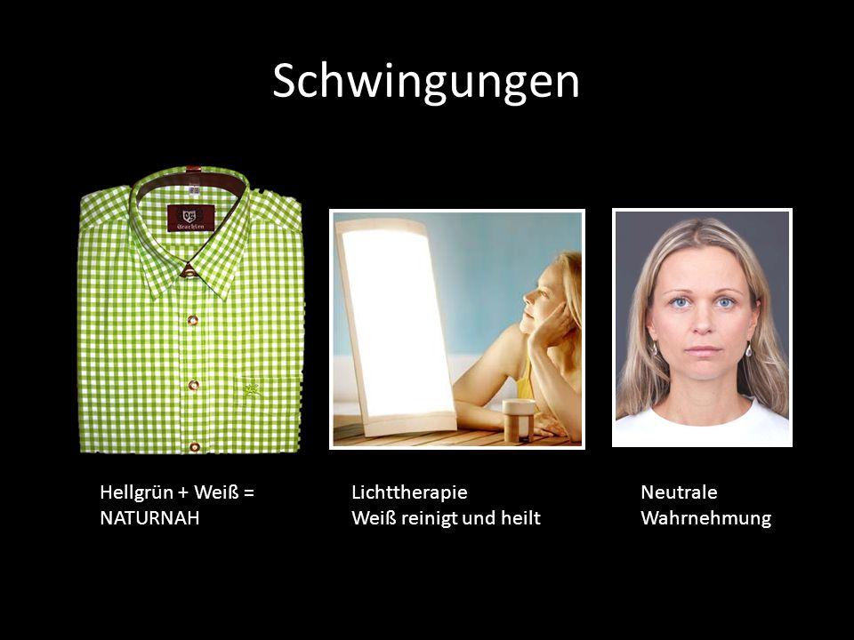 Schwingungen Hellgrün + Weiß = NATURNAH Lichttherapie