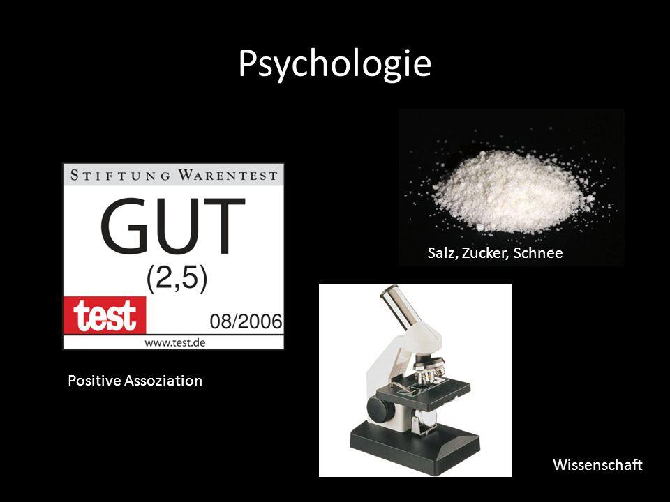 Psychologie Salz, Zucker, Schnee Positive Assoziation Wissenschaft