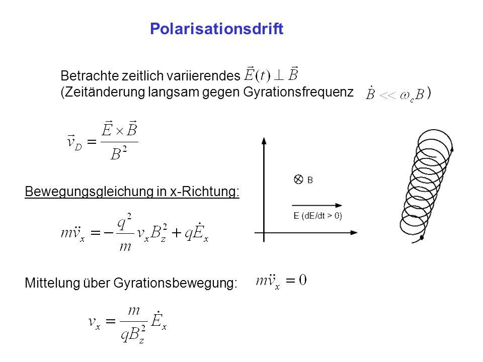 Polarisationsdrift Betrachte zeitlich variierendes