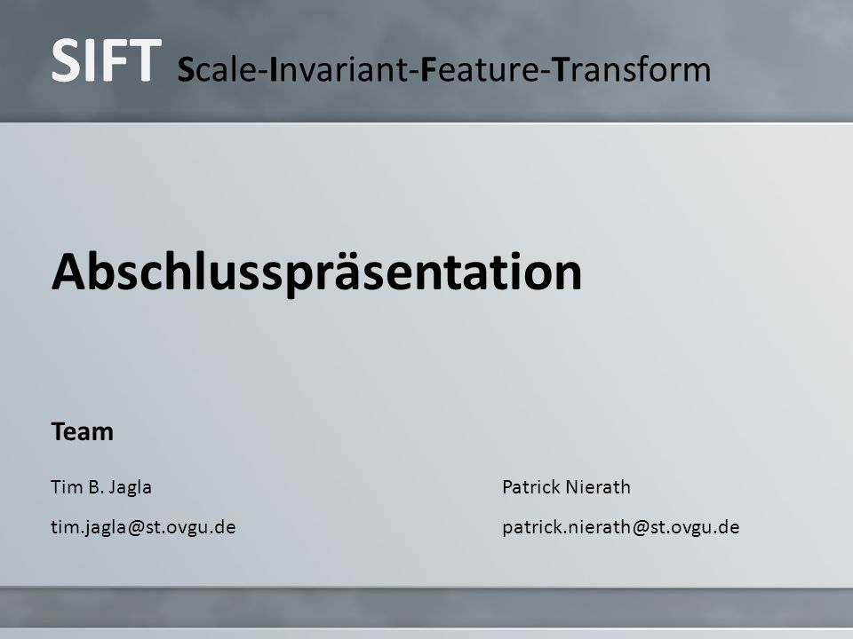 SIFT Scale-Invariant-Feature-Transform