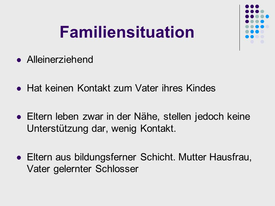 Familiensituation Alleinerziehend