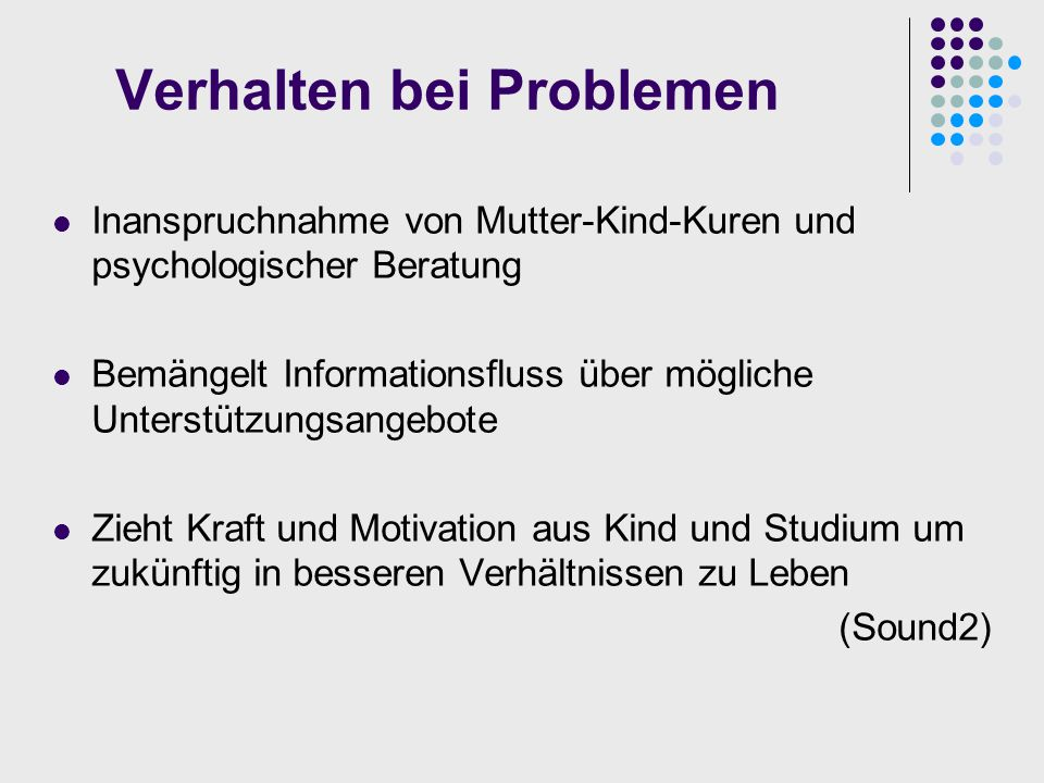 Verhalten bei Problemen