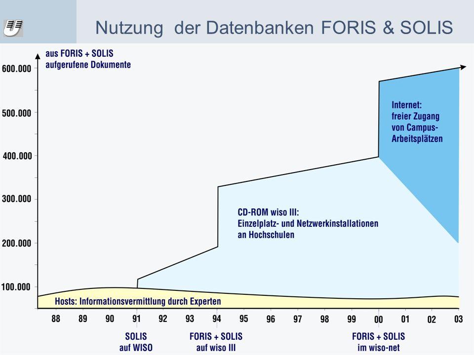 Nutzung der Datenbanken FORIS & SOLIS
