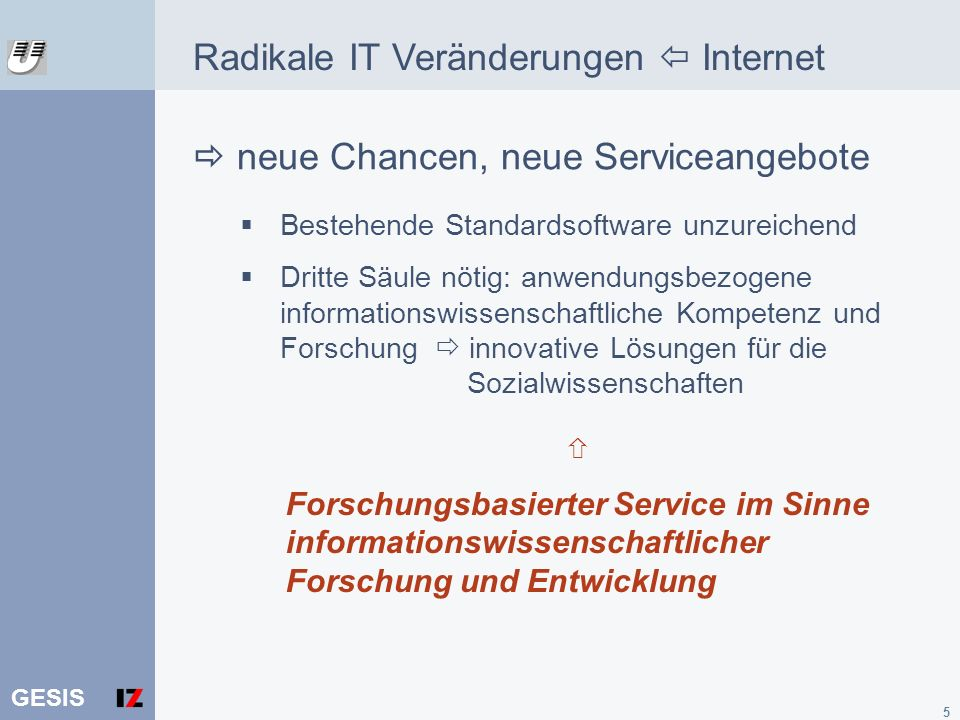 Radikale IT Veränderungen  Internet