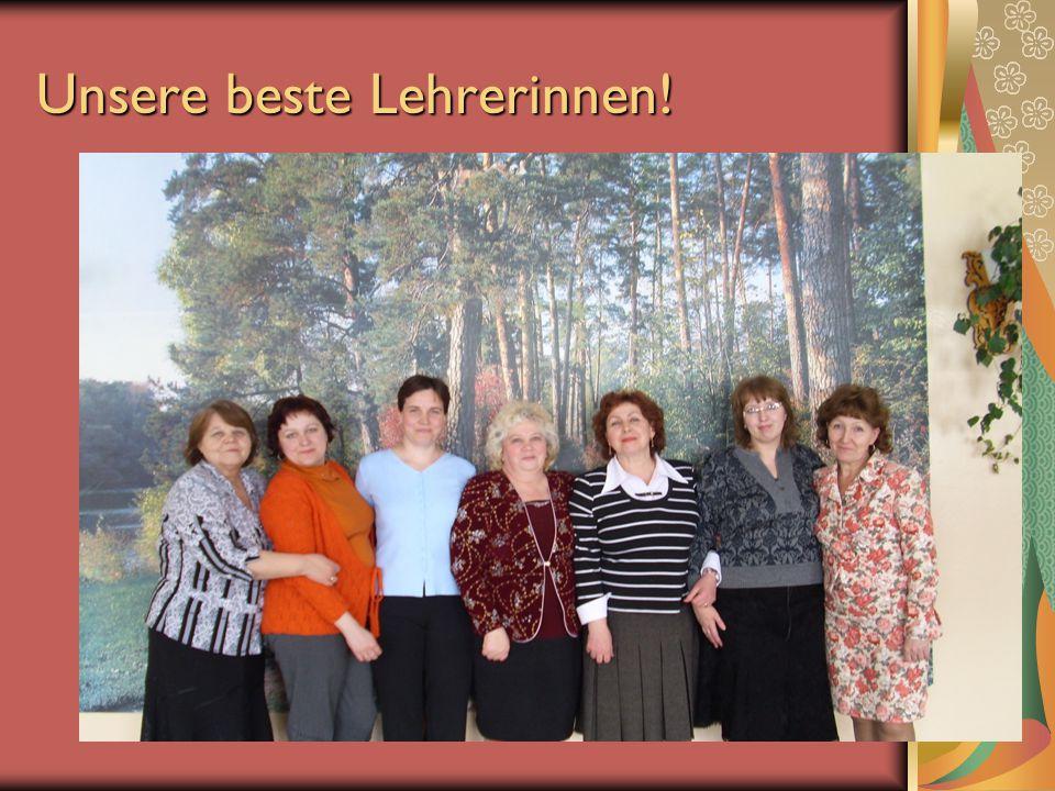 Unsere beste Lehrerinnen!