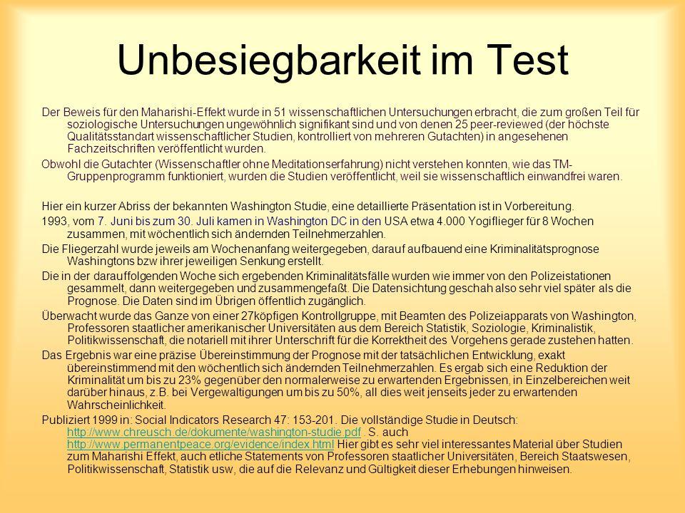 Unbesiegbarkeit im Test