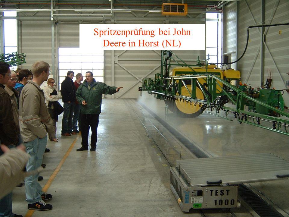 Spritzenprüfung bei John Deere in Horst (NL)