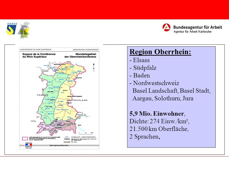 Region Oberrhein: - Elsass Südpfalz Baden Nordwestschweiz