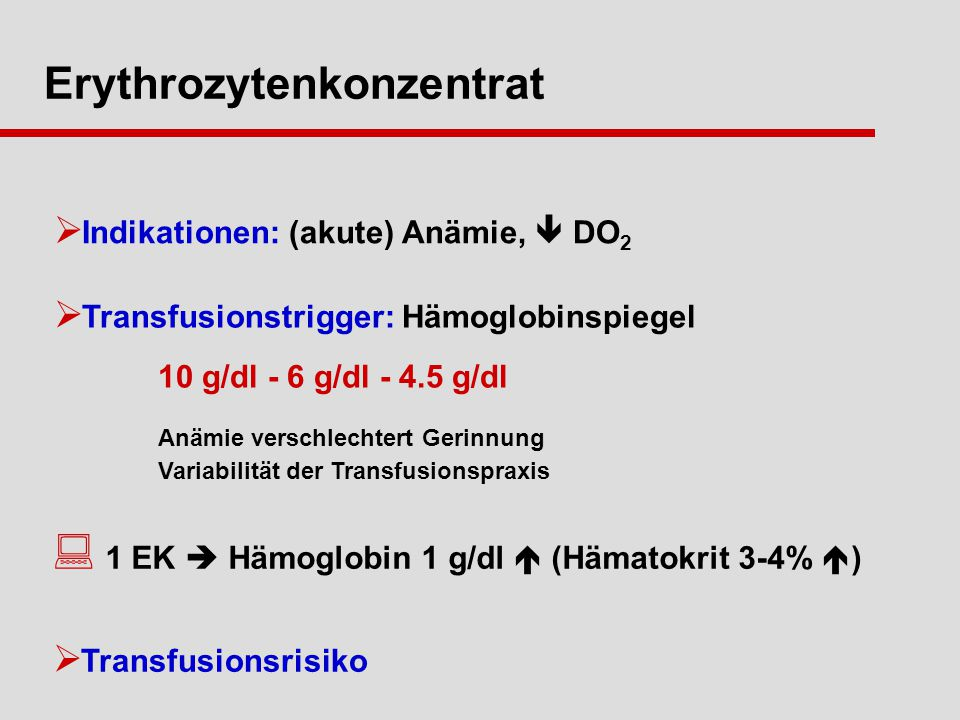 Erythrozytenkonzentrat