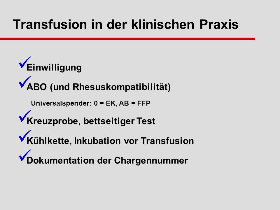 Transfusion in der klinischen Praxis