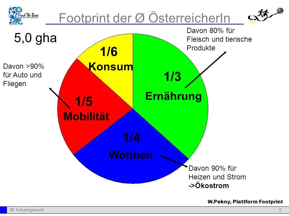Footprint der Ø ÖsterreicherIn