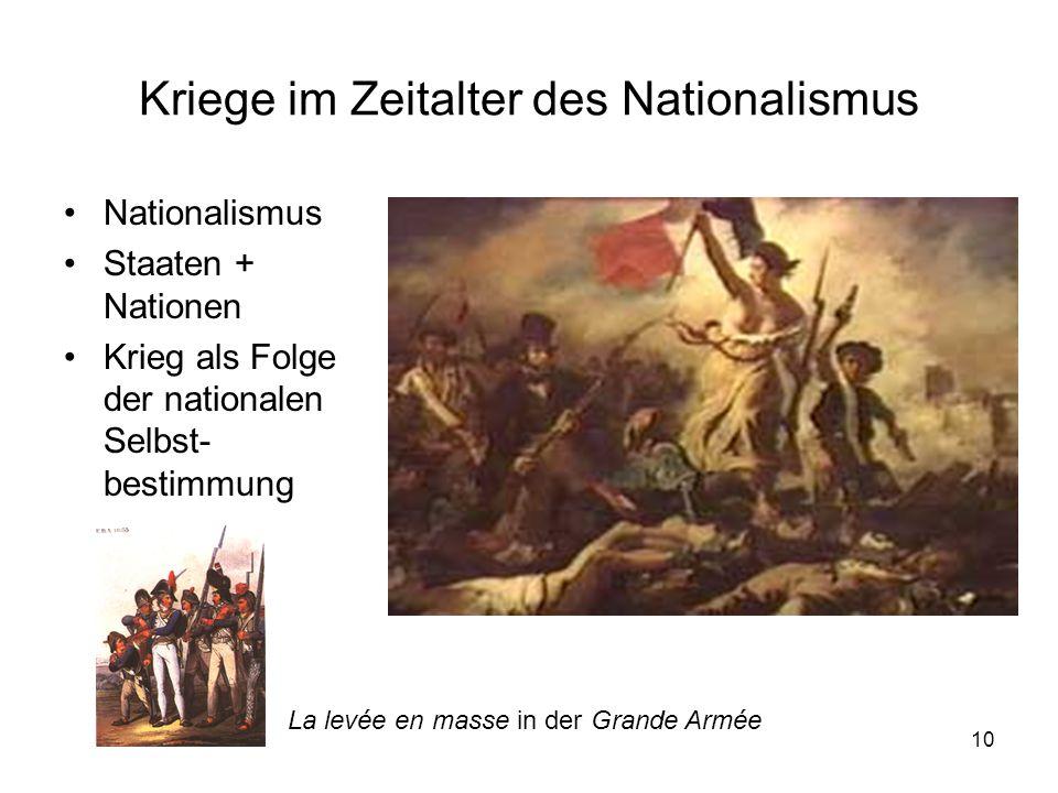 Kriege im Zeitalter des Nationalismus