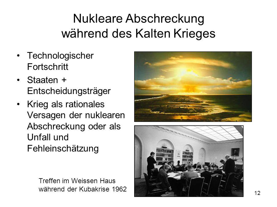 Nukleare Abschreckung während des Kalten Krieges