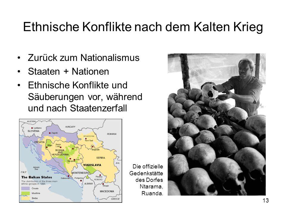Ethnische Konflikte nach dem Kalten Krieg