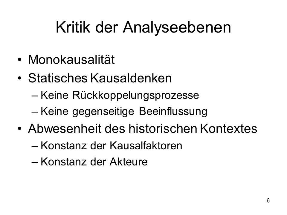 Kritik der Analyseebenen
