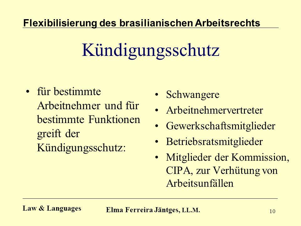 Flexibilisierung des brasilianischen Arbeitsrechts