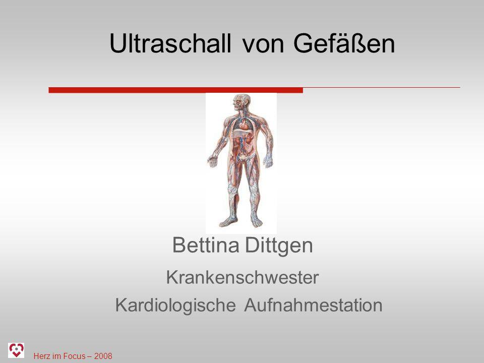 Ultraschall von Gefäßen