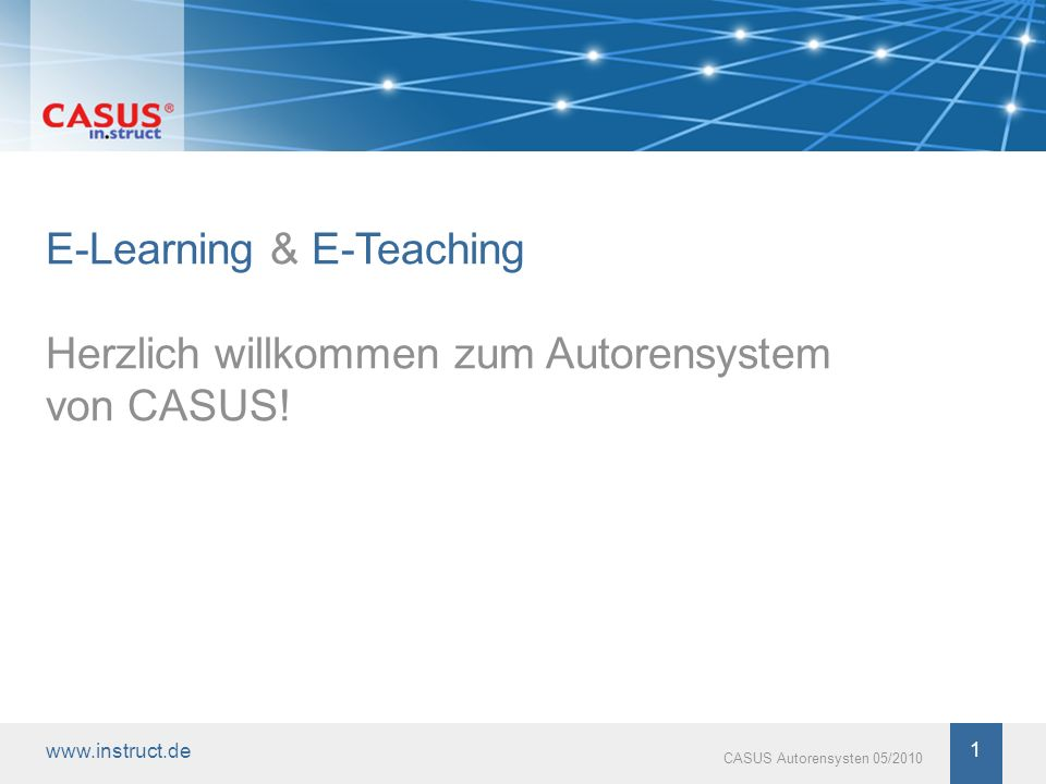 E-Learning & E-Teaching