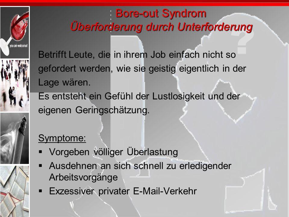 Bore-out Syndrom Überforderung durch Unterforderung