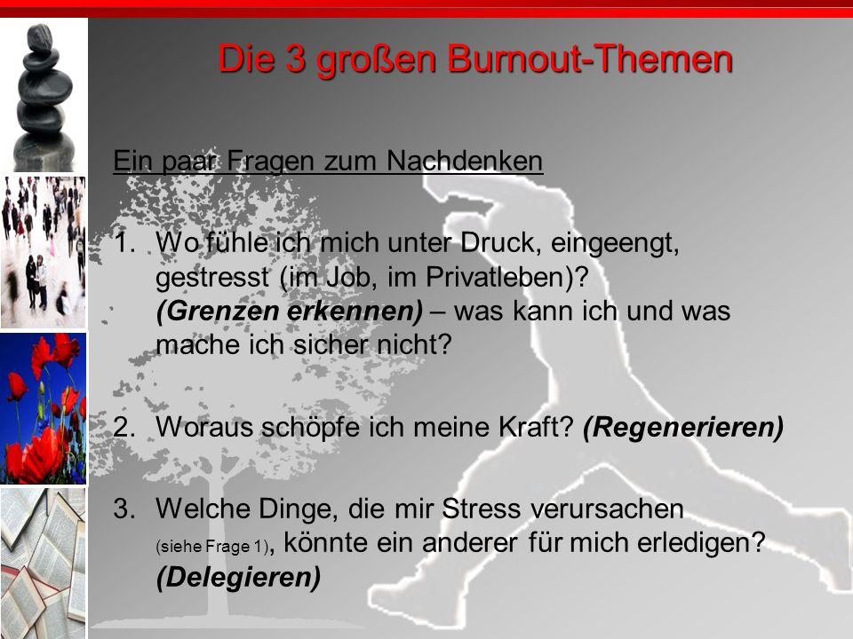 Die 3 großen Burnout-Themen