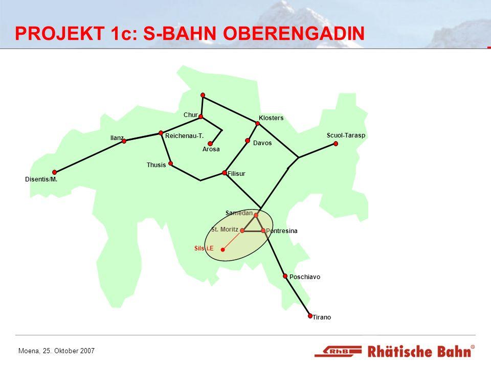 PROJEKT 1c: S-BAHN OBERENGADIN