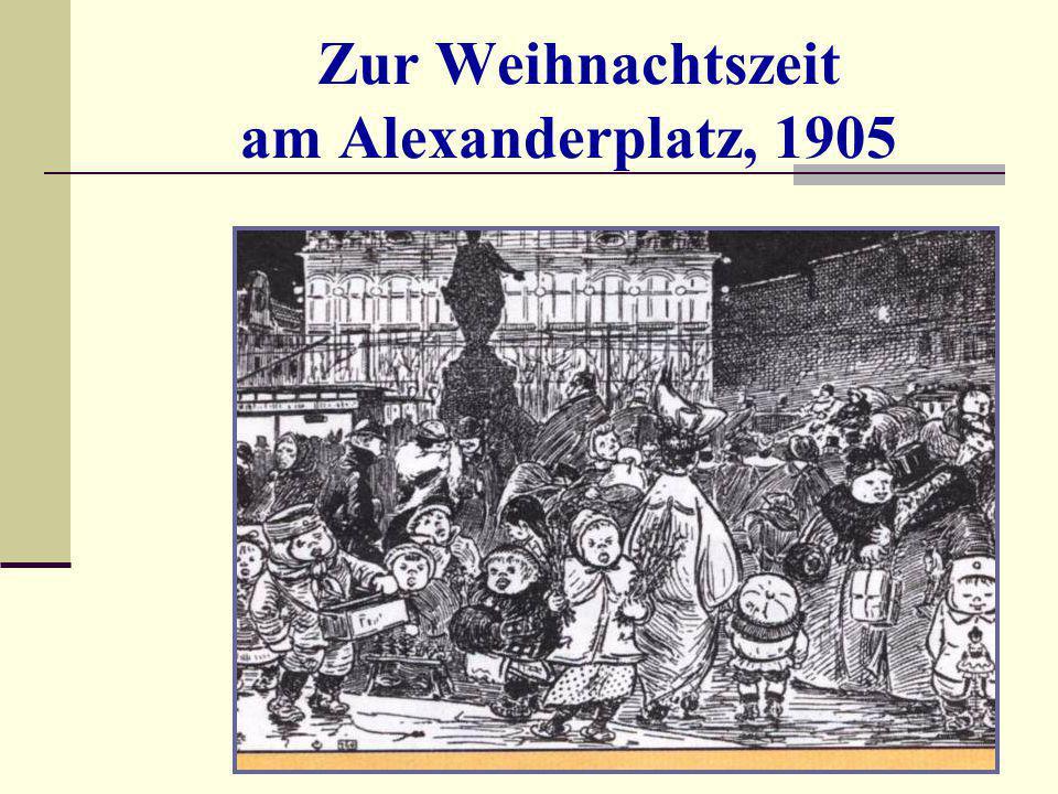 Zur Weihnachtszeit am Alexanderplatz, 1905