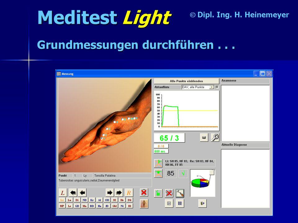 Meditest Light Grundmessungen durchführen . . . Ó