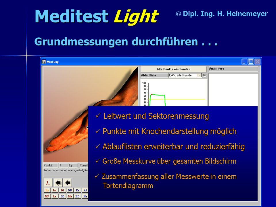 Meditest Light Grundmessungen durchführen . . .