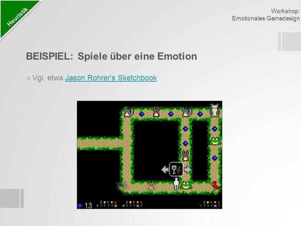 BEISPIEL: Spiele über eine Emotion