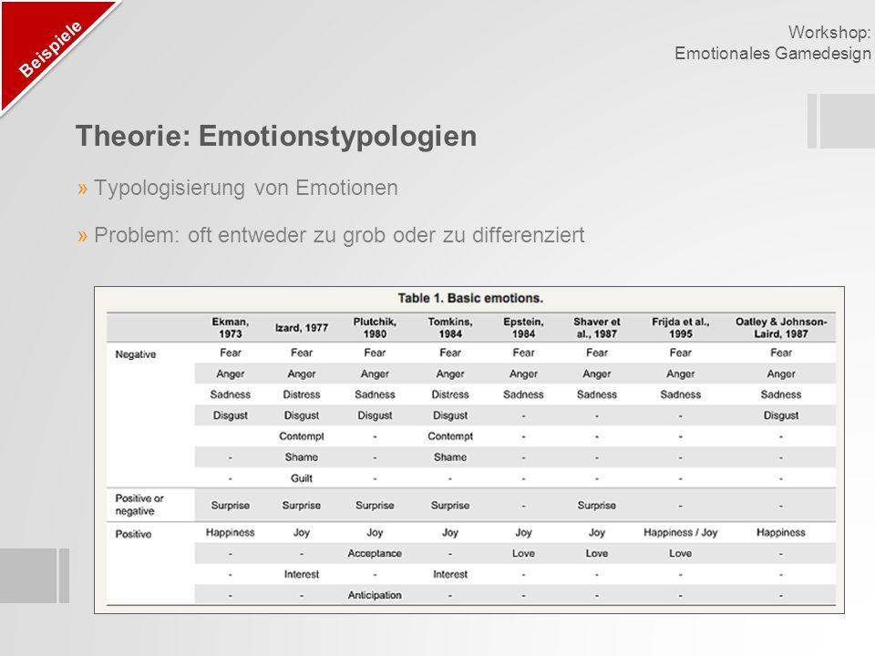 Theorie: Emotionstypologien